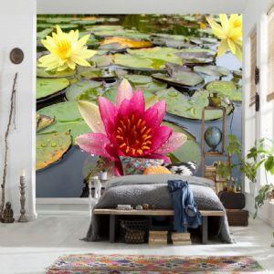 3D Çiçek Duvar Kağıtları